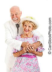 senior, zuidelijk, paar, romantische