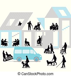 Senioren-Haus.eps - disabled people and seniors,...
