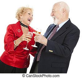 seniores, celebrando
