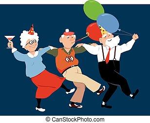 seniores, comemorar, feriados