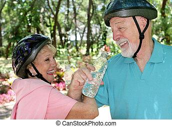 seniores, divertimento, condicão física, &