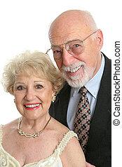 seniores, elegante, retrato