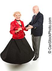 seniores, fiar, dançar