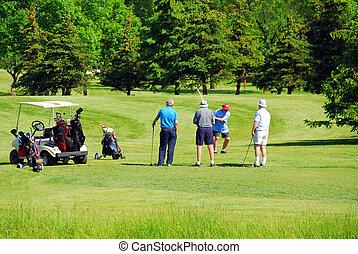 seniores, golfing