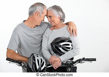 seniores, par, amor
