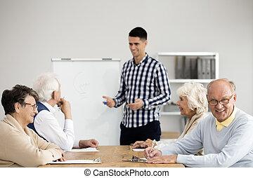 seniors, átnéző, vizsgálat, előbb