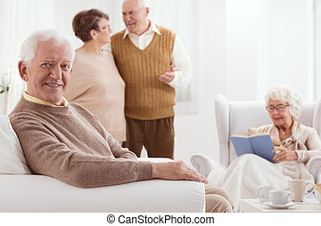 Seniors and active time - Group of seniors spending active...