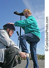 Seniors and Unicycle