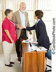 Seniors Apply for Loan