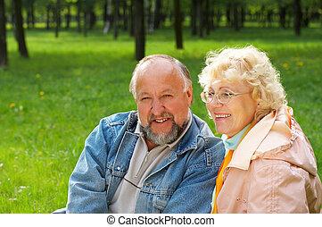 seniors, boldogság
