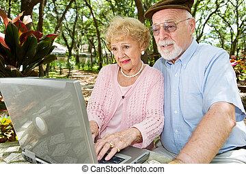 Seniors Browsing the Internet