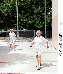 seniors, corte, racquetball