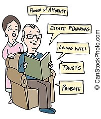 Seniors Estate Planning Research - An image of a senior...