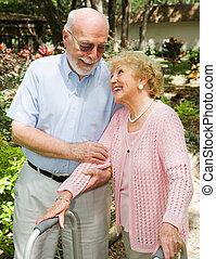 seniors, -, fiducia, e, amore