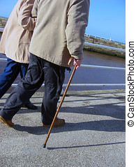 seniors, gyalogló