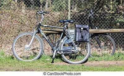 seniors, használt, elektromos, főleg, modern, bicikli, bicikli