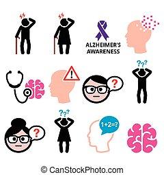 Seniors health - Alzheimer's - Health and medical concept -...