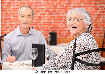 Seniors in the restaurant