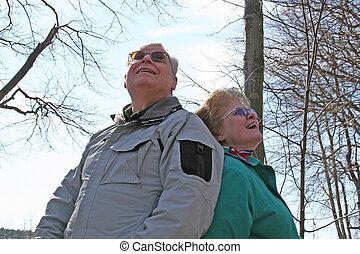 Seniors in the woods