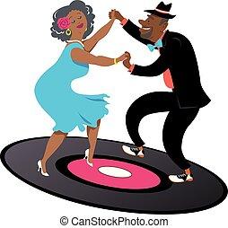 seniors, latino, ballo