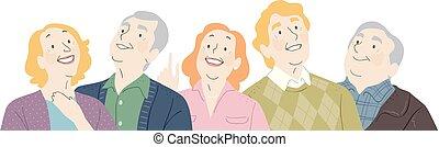 seniors, lede, illustration, oppe