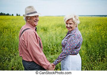 seniors, mező