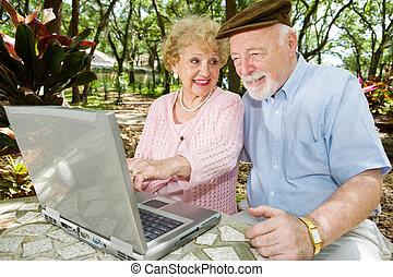 Seniors on Computer - Look Here