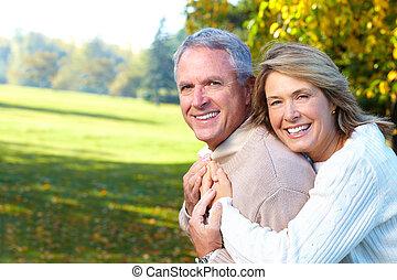 seniors, par, gammelagtig