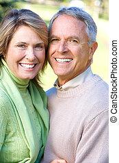 seniors, pareja