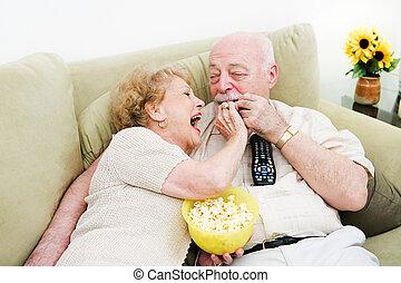 Seniors Popcorn Television