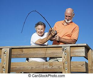 Seniors Reeling in a Big Fish