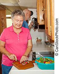 seniors, rv, -, főzés