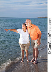 Seniors Sightseeing at the Beach