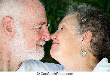 seniors, -, speciell, ögonblick