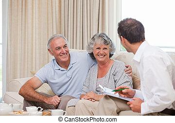 Seniors with assurance man