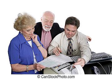 seniors, y, serie, -, impuestos, contabilidad