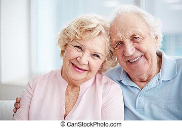 seniorzy, śliczny
