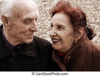 seniorzy, historia, miłość