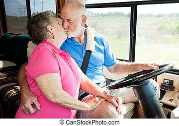 seniorzy, rv, rozrywki, -, napędowy