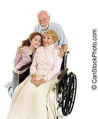 seniorzy, wnuczka, &