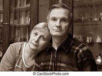 seniorzy, zakochany