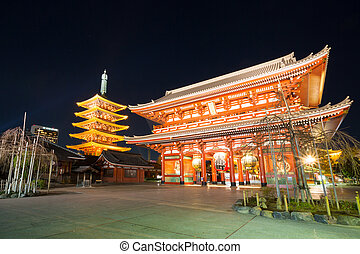 Senjoji temple Tokyo - asakusa Senjoji temple in Tokyo Japan