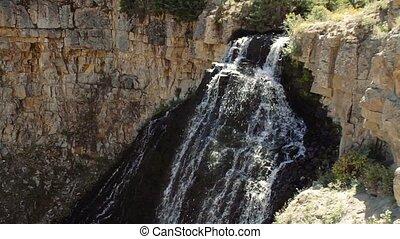senken, vereint,  national, Staaten,  Park,  Yellowstone, fällt