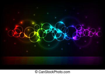 senkrecht, farbe, kreise, hintergrund, mit, kopie, space.