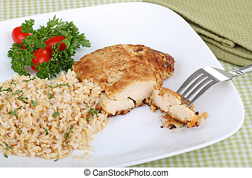 seno pollo, comida