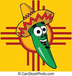 Senor Green Chili Illustration - Vector illustration of a...