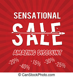 Sensational sale, amazing discount design template with...