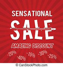Sensational sale, amazing discount design template with...
