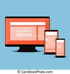 sensibile, web, concetto, disegno, vettore