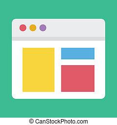 sensibile, web, vettore, disegno, icona